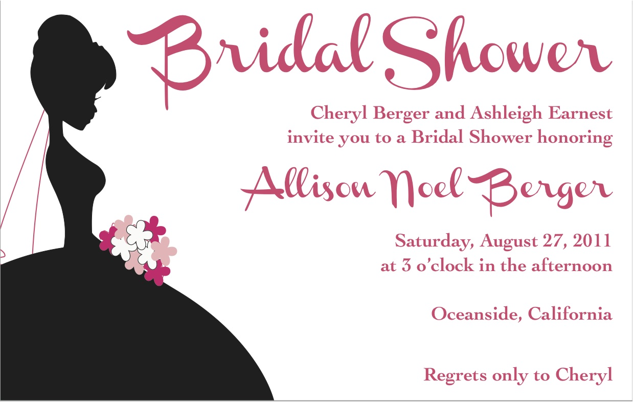 Barbie Bridal Shower Hello Lovely - Black and white bridal shower invitation templates