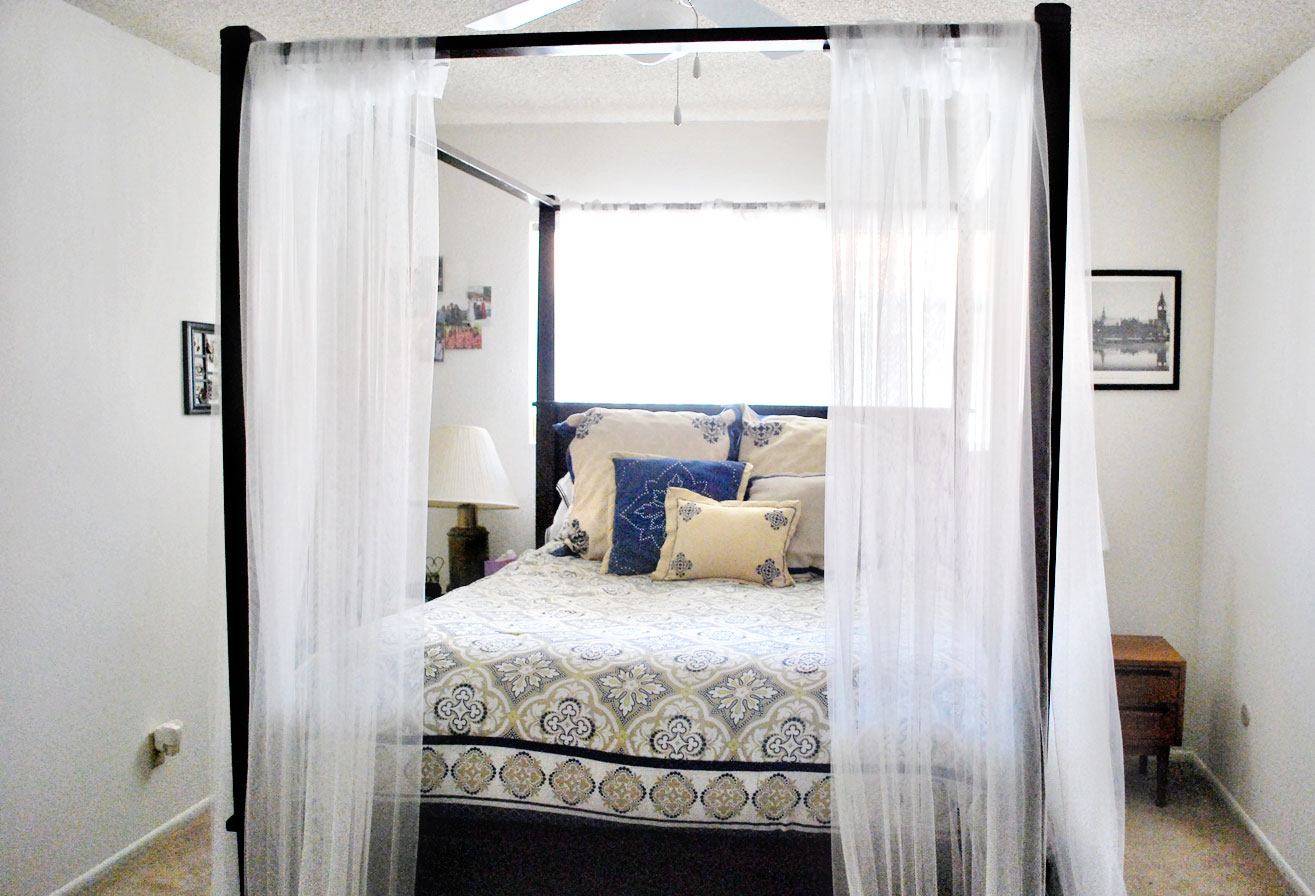 Curtains For Canopy Beds canopy bed curtains – hello lovely